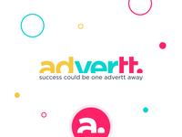Advertt. digital ad agency branding identity mark identity brand logos typography social media marketing agency marketing logotype logo lettermark icon branding ad marketing advertising advert ad agency