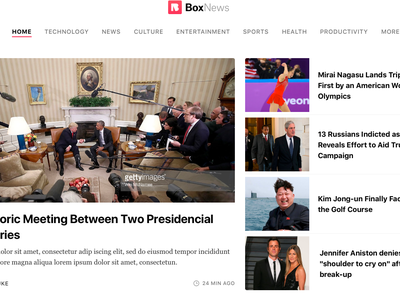 "BoxedCMS ""News Portal template"" city portal community portal magazines publishing news portal cms boxedcms"