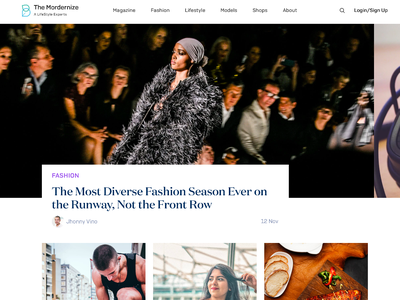 BoxedCMS Theme - Luxury Lifestyle Magazine portal webdesign fashion design magazine cover lifestyle magazine boxedcms