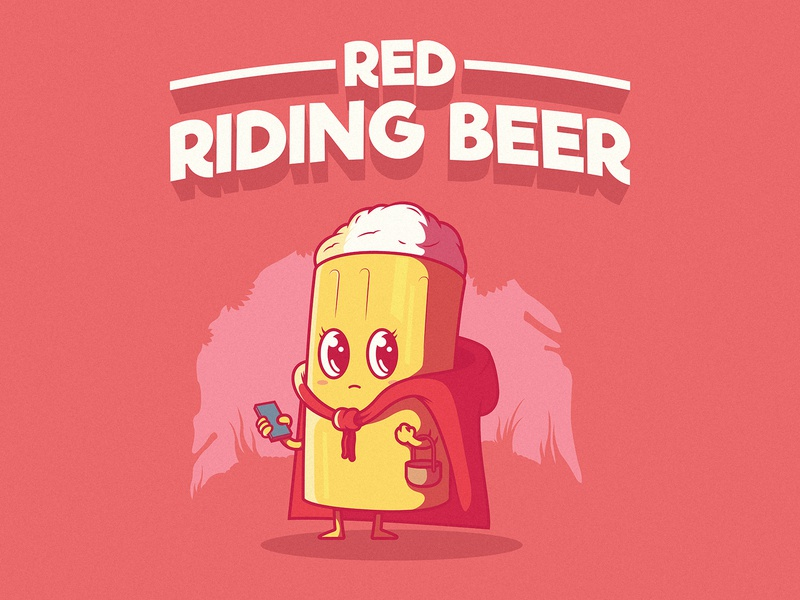 Red Riding Beer branding logo illustration inspiration cool graphic design colors character vector