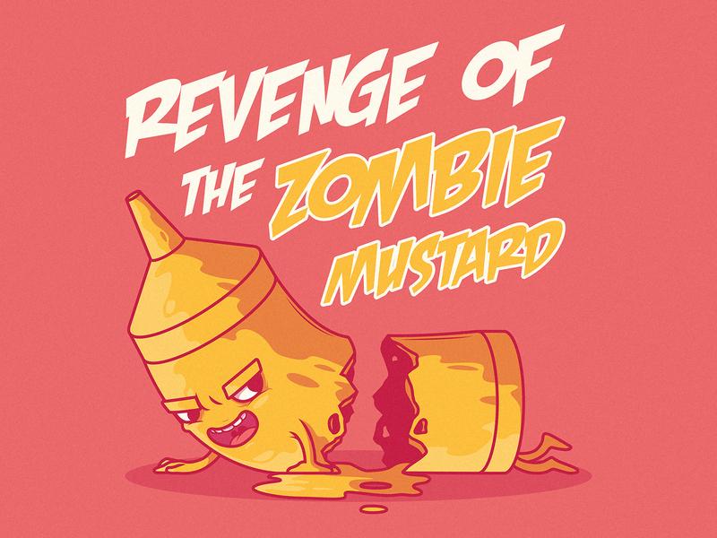 Revenge of the Zombie Mustard branding logo illustration inspiration funny graphic design colors character vector