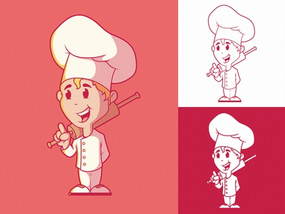 Small Chef Logo Character