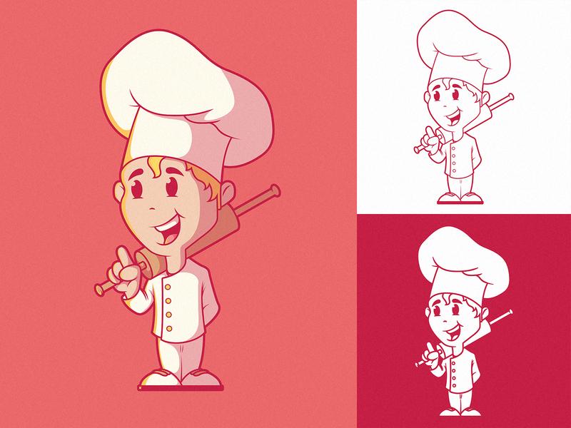 Small Chef Logo Character art branding logo illustration inspiration graphic design colors character vector