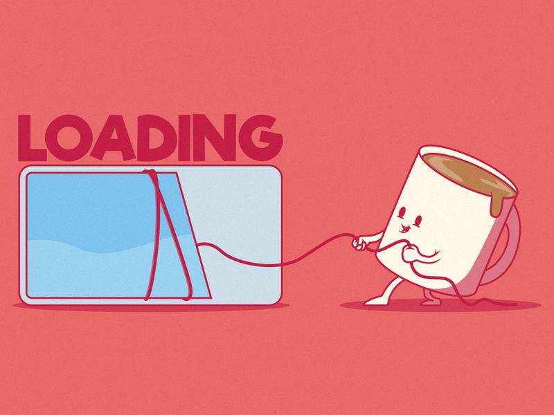 Loading branding logo illustration inspiration funny graphic design colors character vector