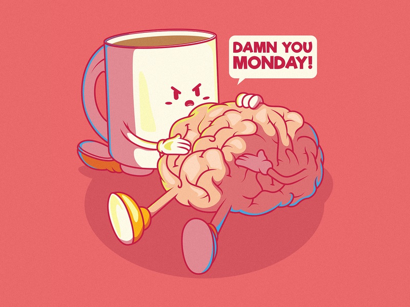 Monday Mood! cool design inspiration poster logo branding illustration graphic character vector