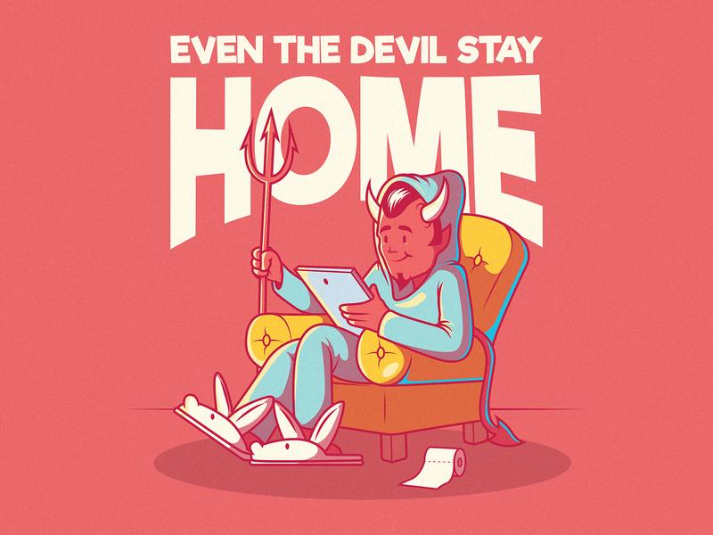 Cozy Devil funny logo branding illustration inspiration design colors graphic character vector