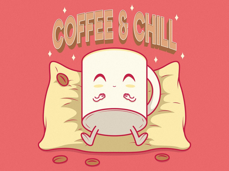COFFE AND CHILL art branding logo illustration inspiration funny graphic design character vector