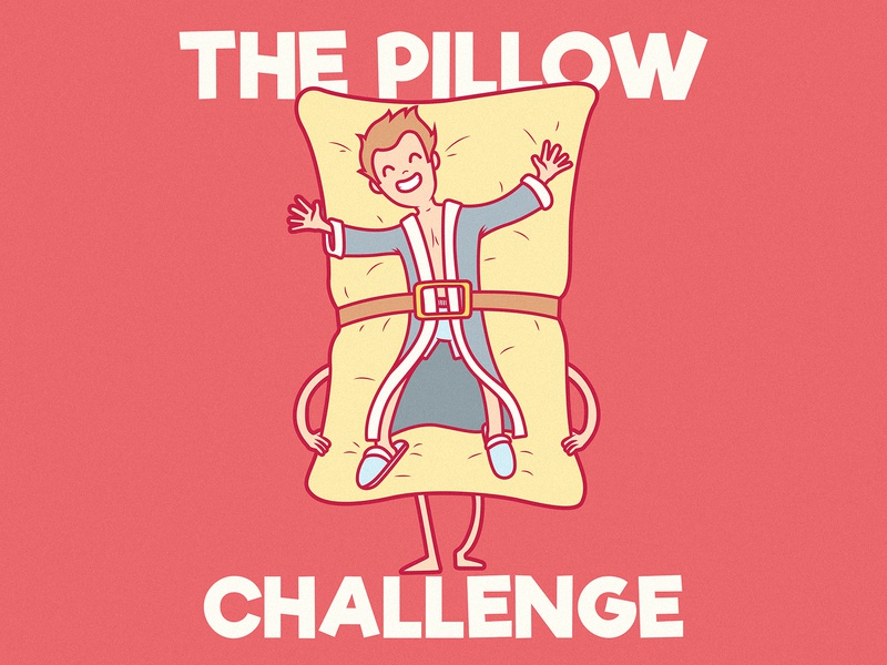 Pillow Challenge work comics draw shirt illustration inspiration graphic design character vector