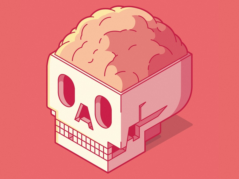 ISOMETRIC SKULL art icon symbol skull logo branding illustration inspiration design colors character vector