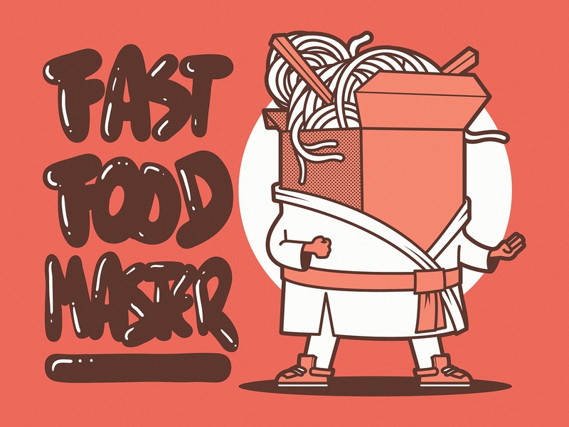 Fast Food Master cool shirt graphic design art branding logo illustration character vector