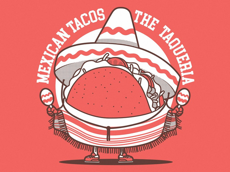 The Real Tacoq lettering colors art branding logo illustration graphic design character vector