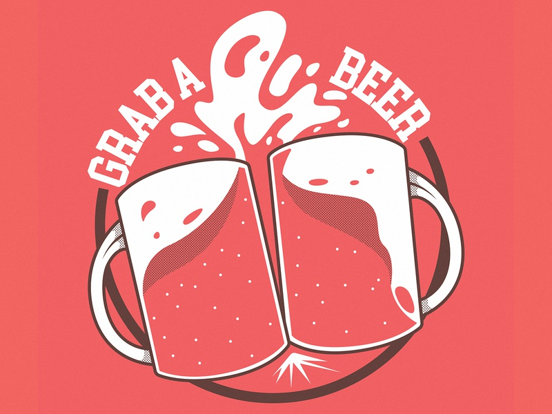 Grab a Beer! branding logo illustration cool inspiration shirt art graphic character vector