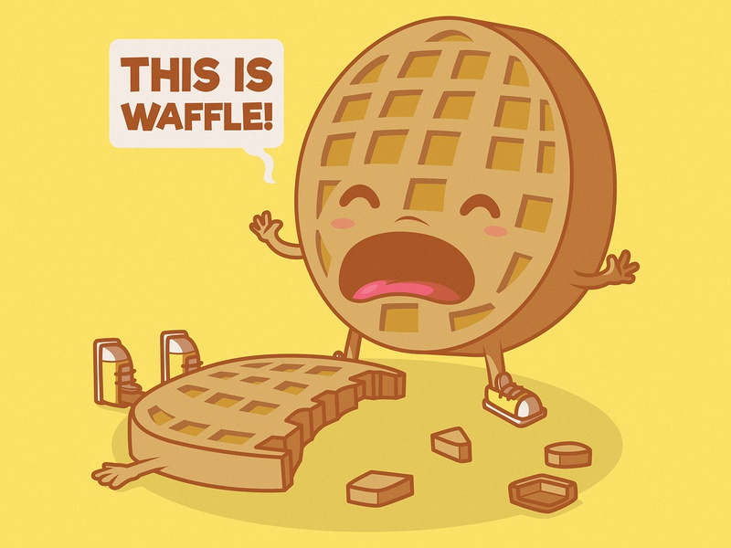 So Waffle! funny shirt branding logo illustration inspiration graphic design character vector