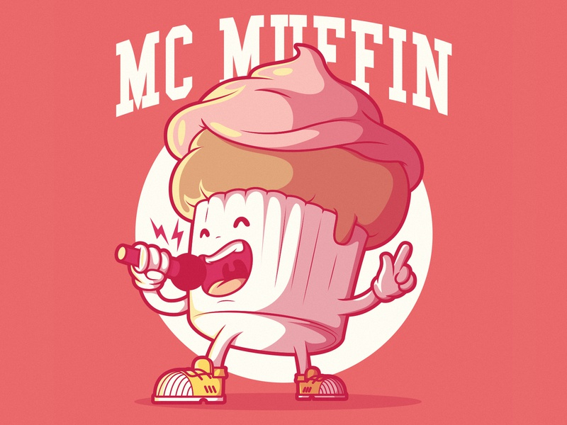 MC Muffin cute branding logodesign symbol icon app character design logo advertising brand character food illustration food and drink