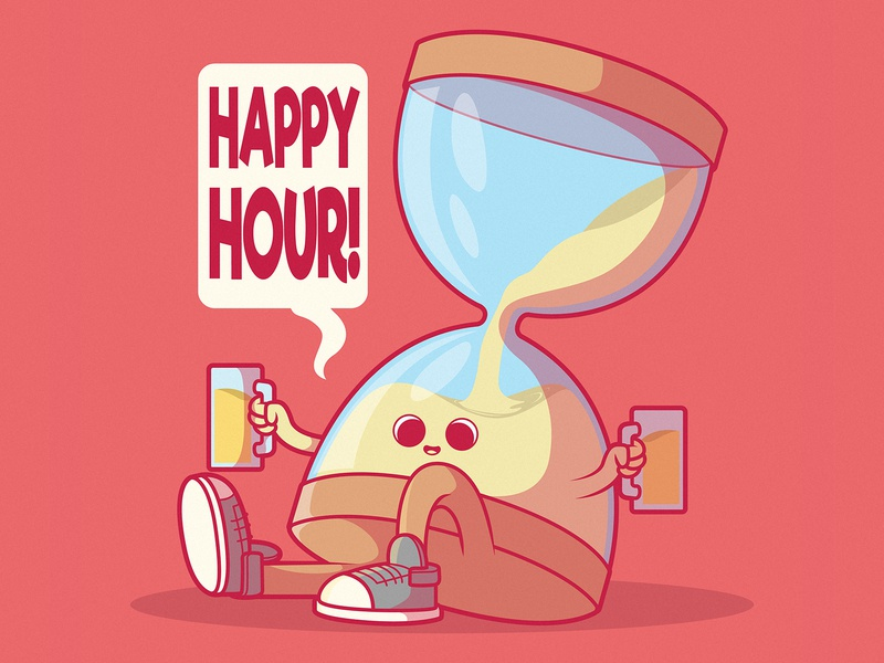 Happy Hour letter inspiration artwork vector funny character comic vector art illustration badge identity brand branding logo drinks beer