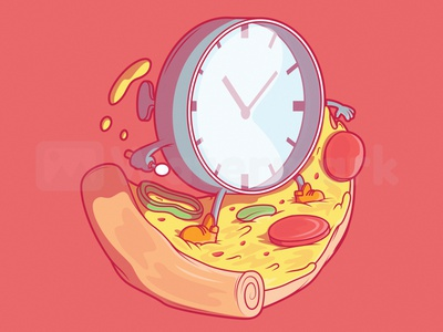 Fast Food Delivery! funny art inspiration graphic colors character vector foodie food and drink brand logo app food