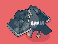 Full of Spam! cool graphic art design illustration logo inspiration brand tech app spam character vector
