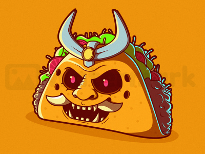 Taco Samurai funny food illustration food and drink concept inspiration branding illustration logo design graphic symbol icon food character vector