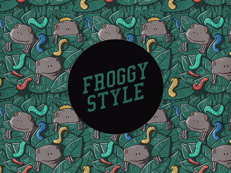 froggy style pattern by pedro fernandes dribbble