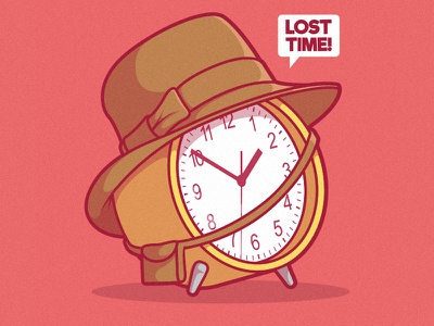 Lost Time! funny shirt branding logo work comics cool illustration inspiration graphic design colors character vector