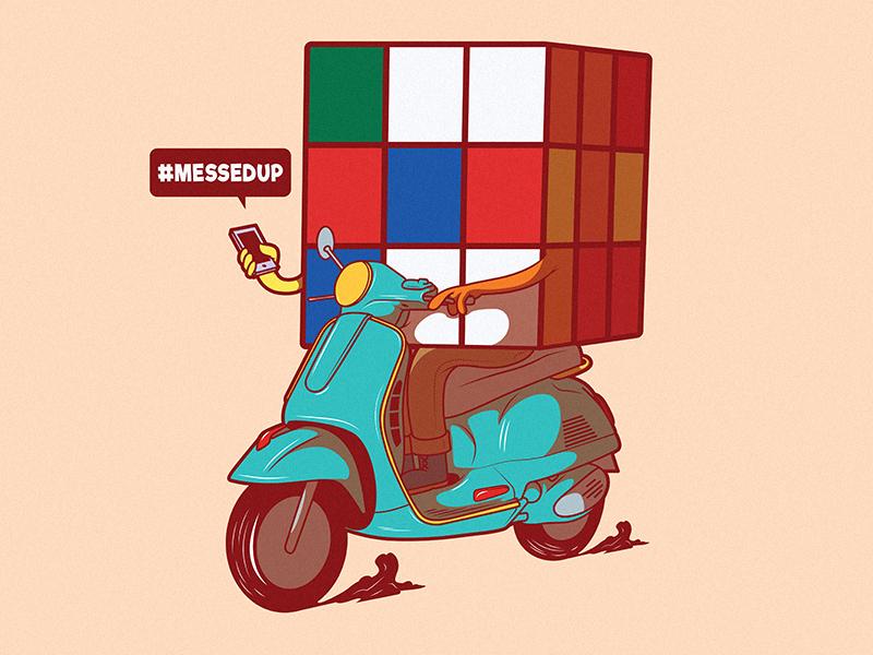 #MessedUp app icon cartoon art poster comics tee branding logo illustration work inspiration funny graphic shirt design colors character vector