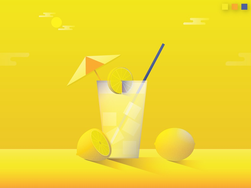 Colorstrations: Lemon colorstrations blends color texture illustration orange lemonade lemon