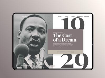 MLK - Legacy App: Ipad Concept