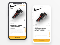 OFF-White inspired Product Screen