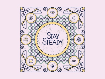 Stay Steady outline illustration pictogram outline icon outline icons geometric editorial vector simple flat illustration