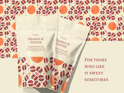 Orange coffee package packagedesign digitalart branding illustration