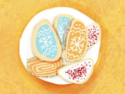 Cookies painterly textured bright editorial illustration food illustrator food illustration