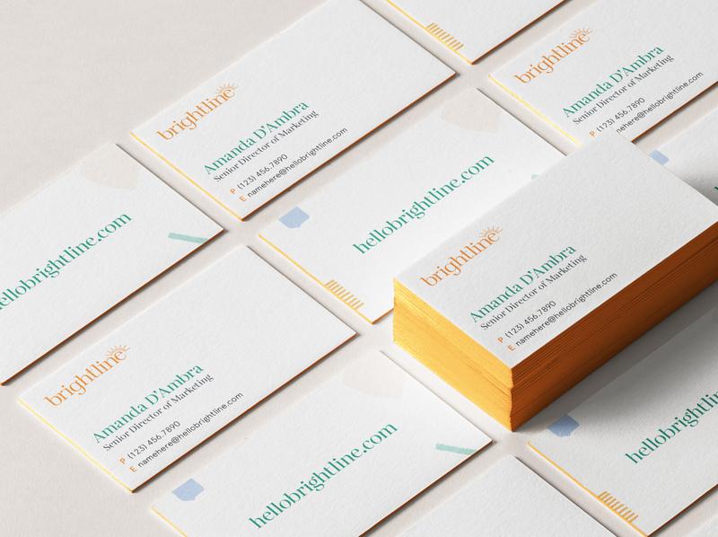 Brightline Brand Identity: Business Card business card child care children behavioral health healthcare website stationery branding studio brandidentity design branddesign logo identity c42d branding brand identity