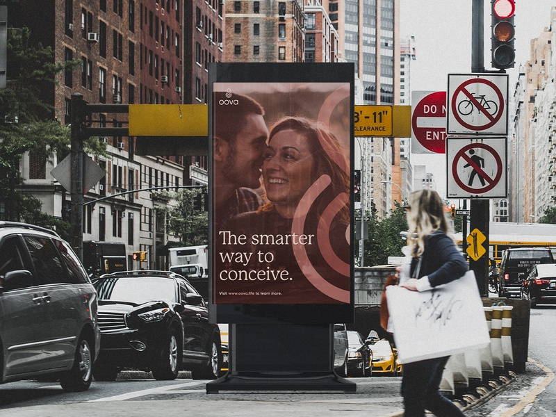OOVA Brand Identity: Advertising advertising ui app ui poster women relationships fertility app design identity design branding studio brandidentity design branddesign logo identity c42d branding brand identity