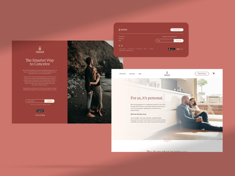 OOVA Brand Identity: Website women relationships fertility web ui app ui kit app website design website identity design branding studio brandidentity design branddesign logo c42d identity branding brand identity