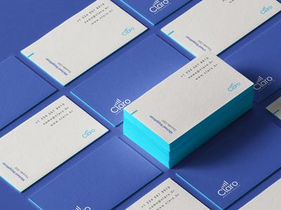 Claro Brand Identity: Business Cards