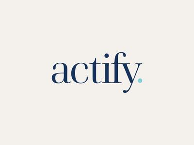 Actify Brand Identity: Logo