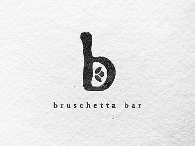 Bruschetta restauntrant logo letters typography lockup illustrator logo pitu