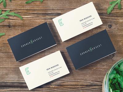 Salad concept business cards