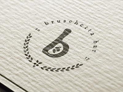 Bruschetta restaurant branding print letter typography lockup illustrator branding logo pitu