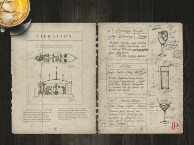Patent Pending Bar menu