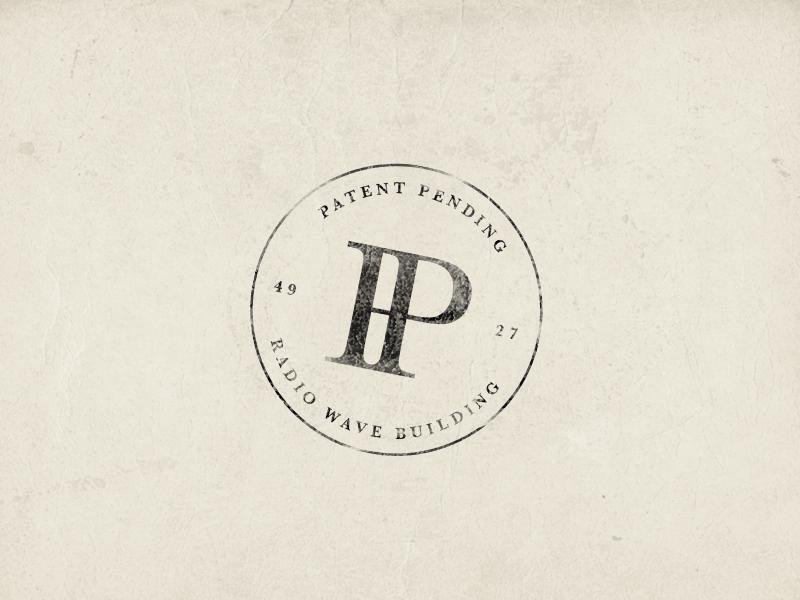 Patent Pending stamp 2 print stamp badge branding letters typography lockup illustrator logo pitu