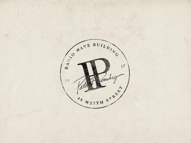 Patent Pending stamp 3 print stamp badge branding letters typography lockup illustrator logo pitu