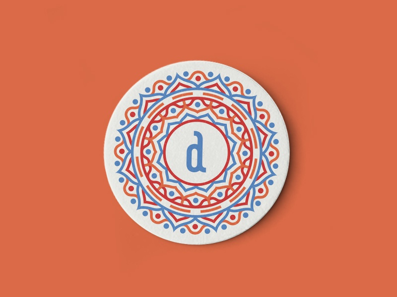 Dalup Coaster typography letters type print colors logo identity pattern illustrator mockup branding pitu