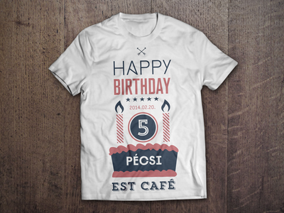 Happy Birthday Tshirt candle typography thirt cake birthday