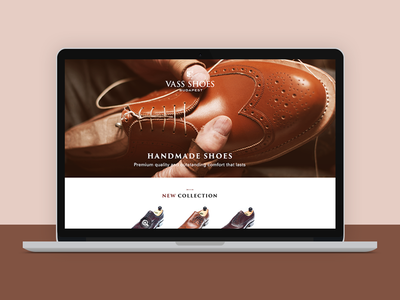Vass Shoes shoes website webdesign one page products