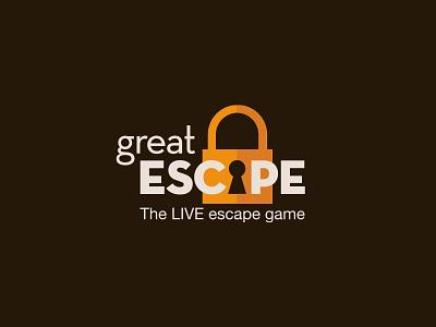 Great Escape Logo logo escape game lock new zeland