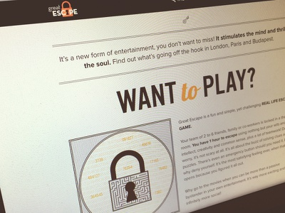 Great Escape Website website insane escape new zeland header title lock key
