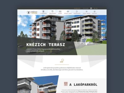 Knezich Terasz Webdesign gray architecture abstract hero image menu apartment house webdesign