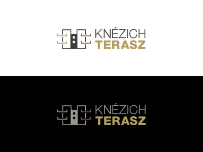 Knezich Terasz Logo balcony gray black white apartment house architecture logo