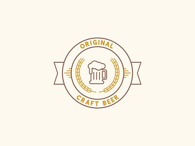 Original Craft Beer Logo craft beer circle ribbon badge example beer creative market template logo